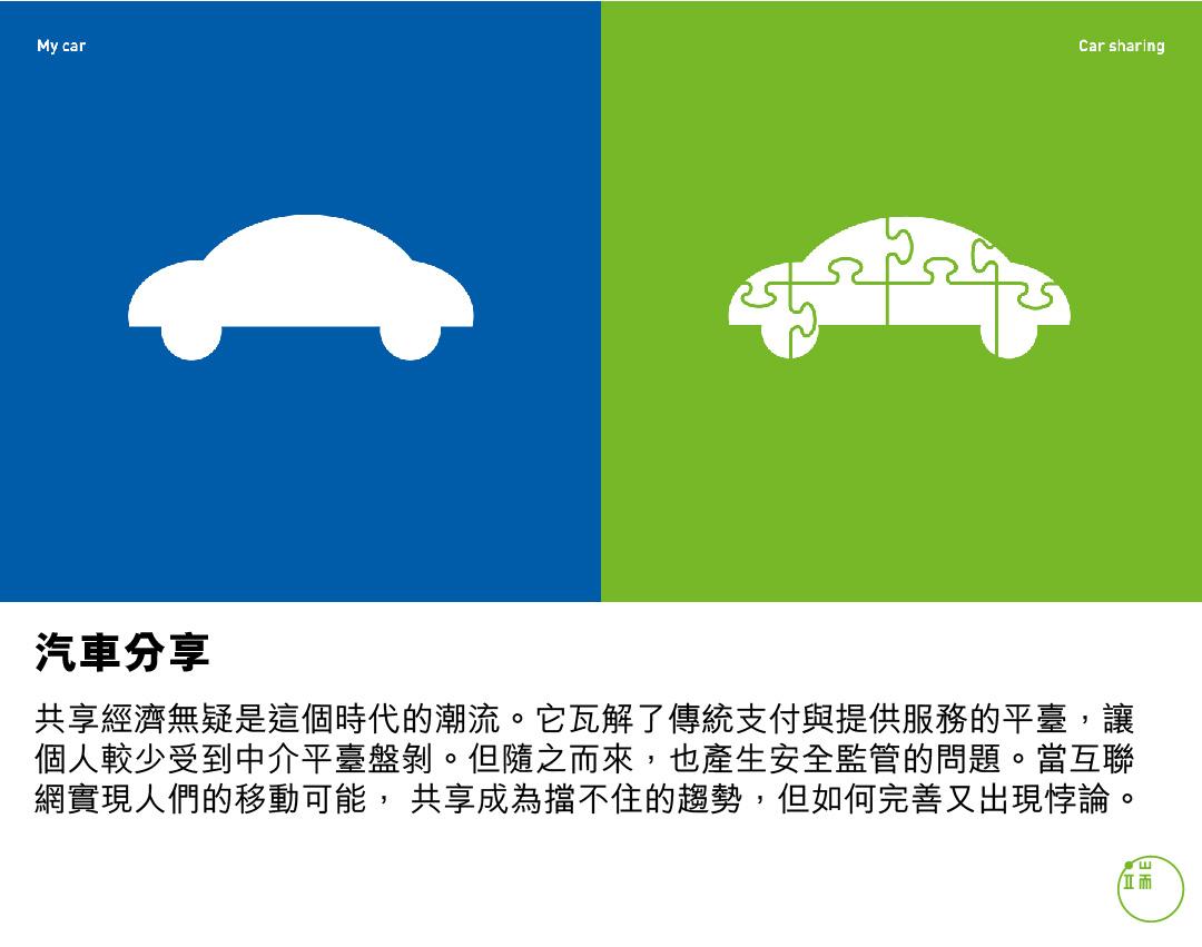 今昔相遇:汽車分享。