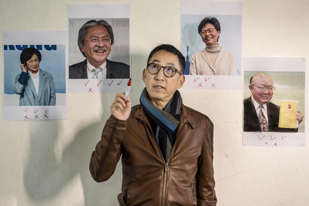 張堅庭為四位特首參選人點評。