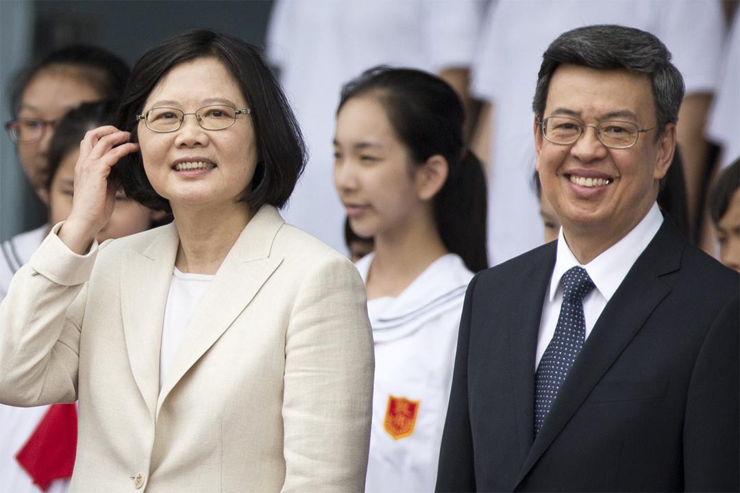 台灣總統蔡英文和副總統陳建仁。