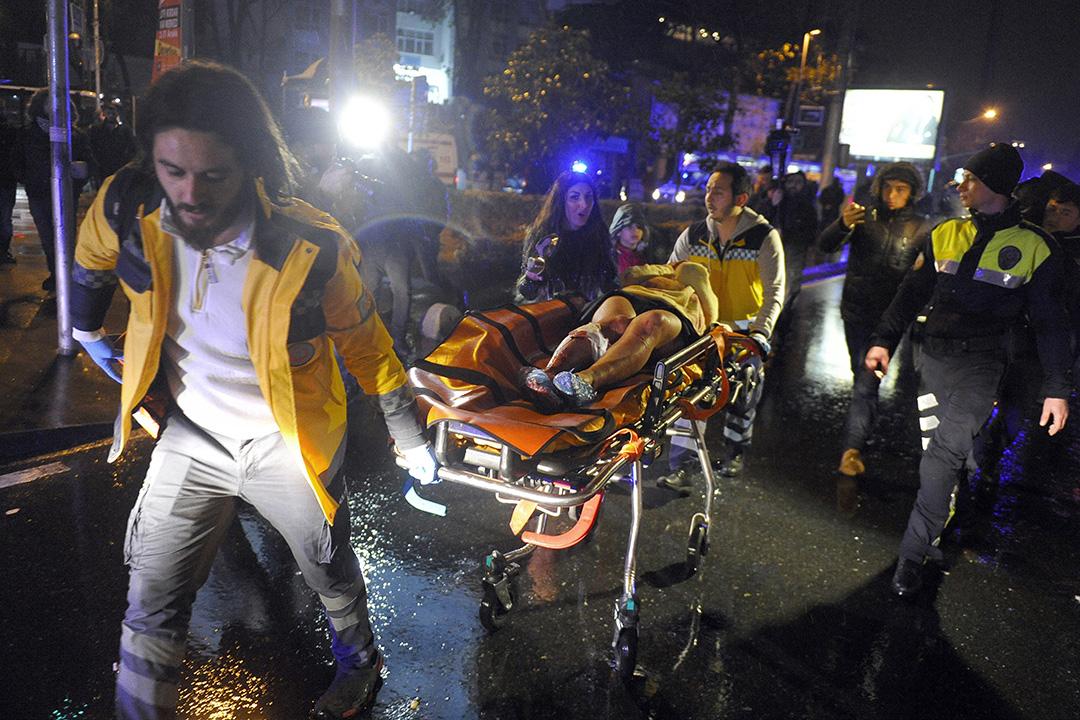 2016年1月1日,土耳其伊斯坦布爾,一家夜總會發生襲擊事件,造成多人死傷。
