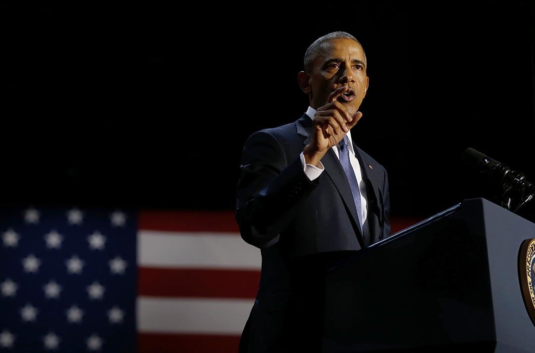 奧巴馬於芝加哥發表告別演說。