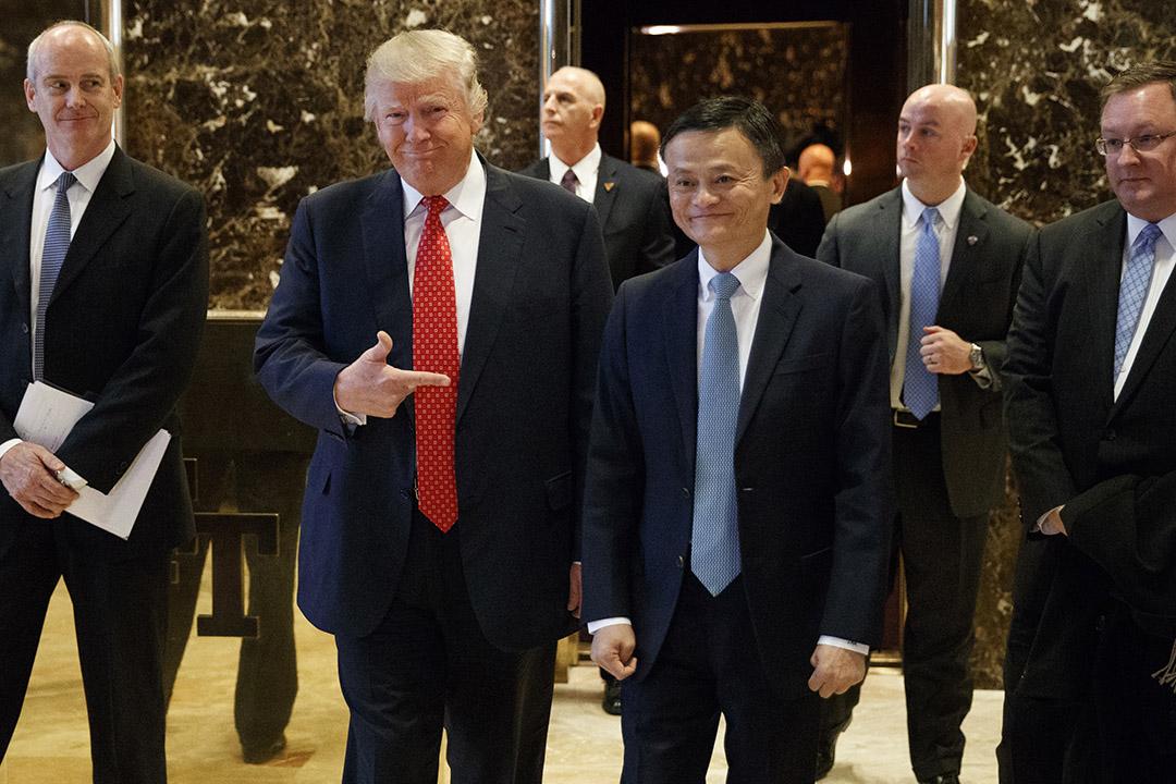 2017年1月9日, 紐約,美國候任總統特朗普和中國阿里巴巴集團董事局主席馬雲會面。
