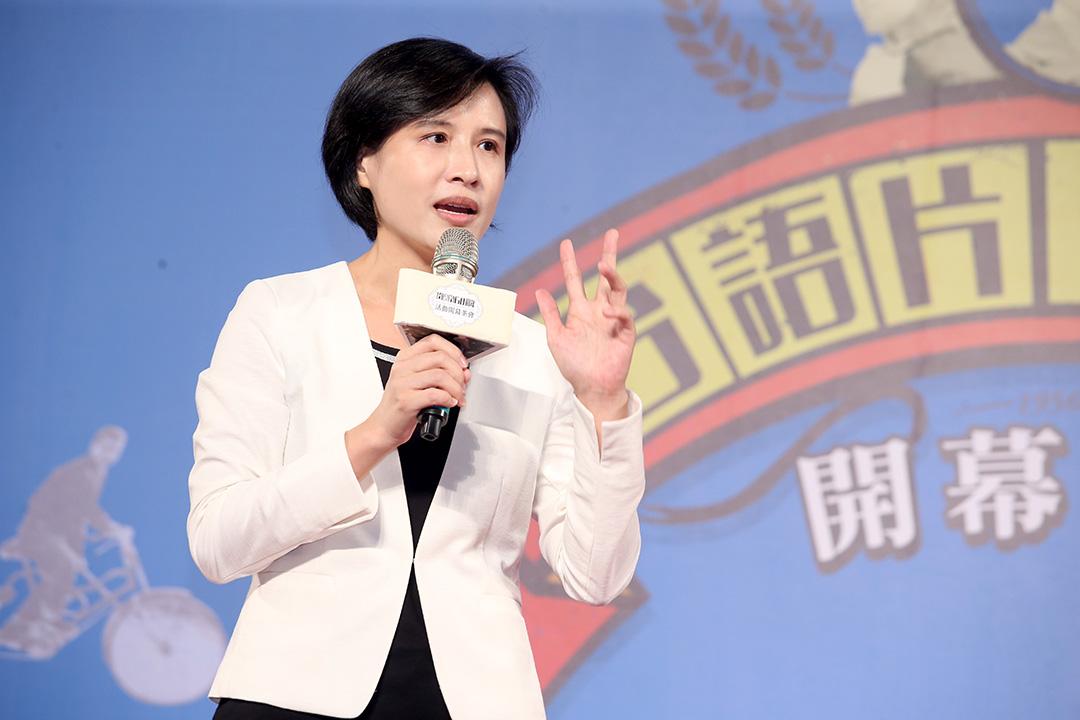 文化部長鄭麗君出席台語片六十周年開幕茶會。