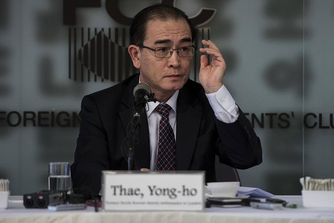 太永浩在南韓舉行記者會指,北韓不會放棄發展核武。