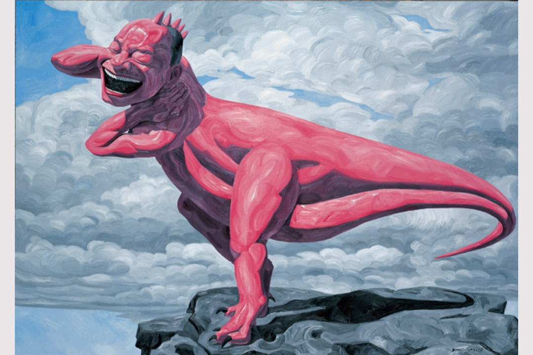 岳敏君插畫「我是龍」。