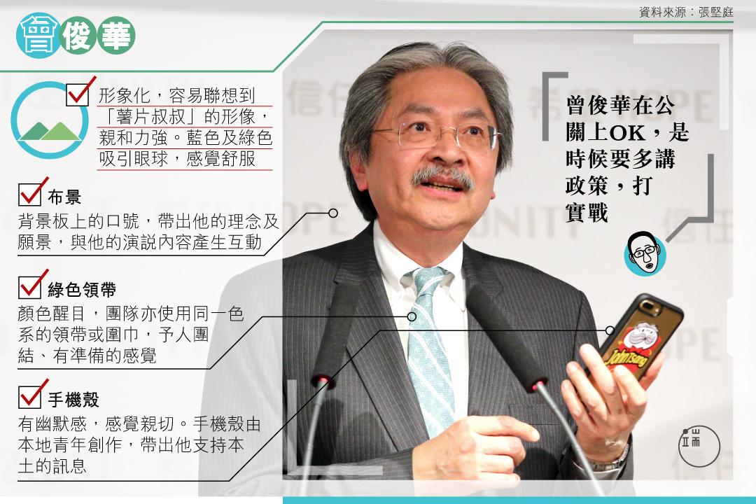 曾俊華宣布參選一刻,傳遞了什麽訊息? 圖:端傳媒設計部