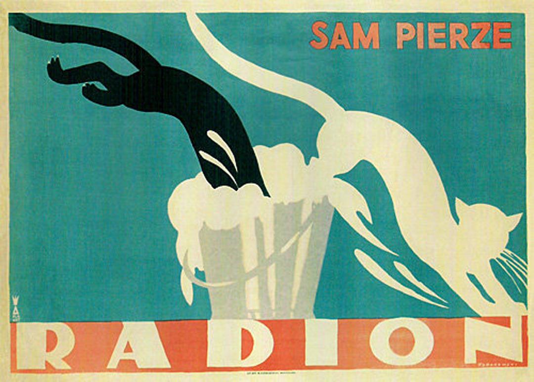 Tadeusz Gronowski為一款名為Radion的洗滌品創作的海報。