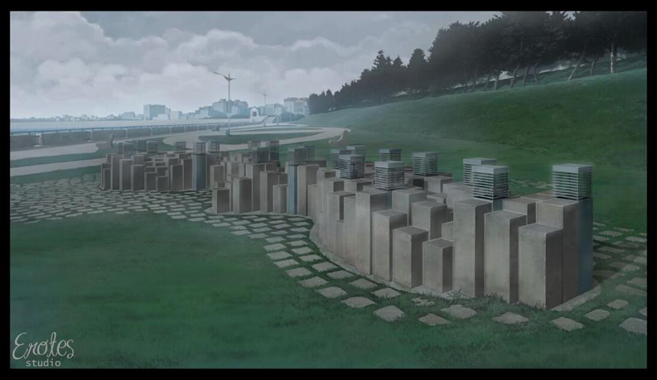 Erotes Studio即將推出的《她和他的她的澎湖灣》以澎湖七一三事件為背景。圖為以真實七一三澎湖事件紀念碑為本的遊戲場景。