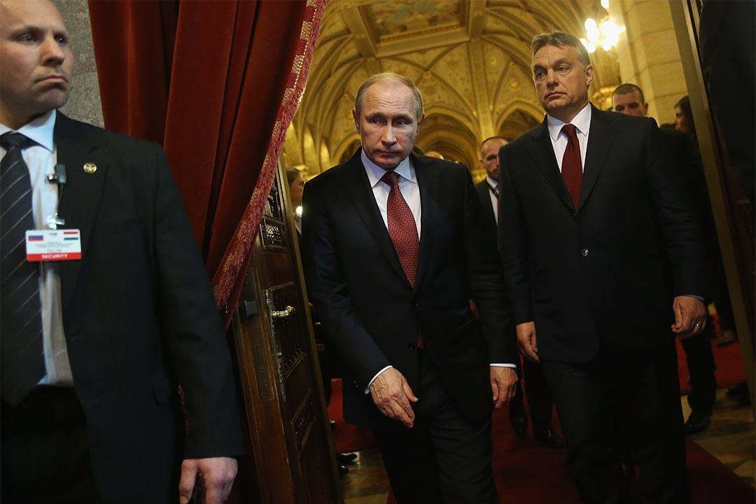 美國國家情報總監力證俄羅斯介入總統大選。圖為2015年2月17日,俄羅斯總統普京與匈牙利首相會面。