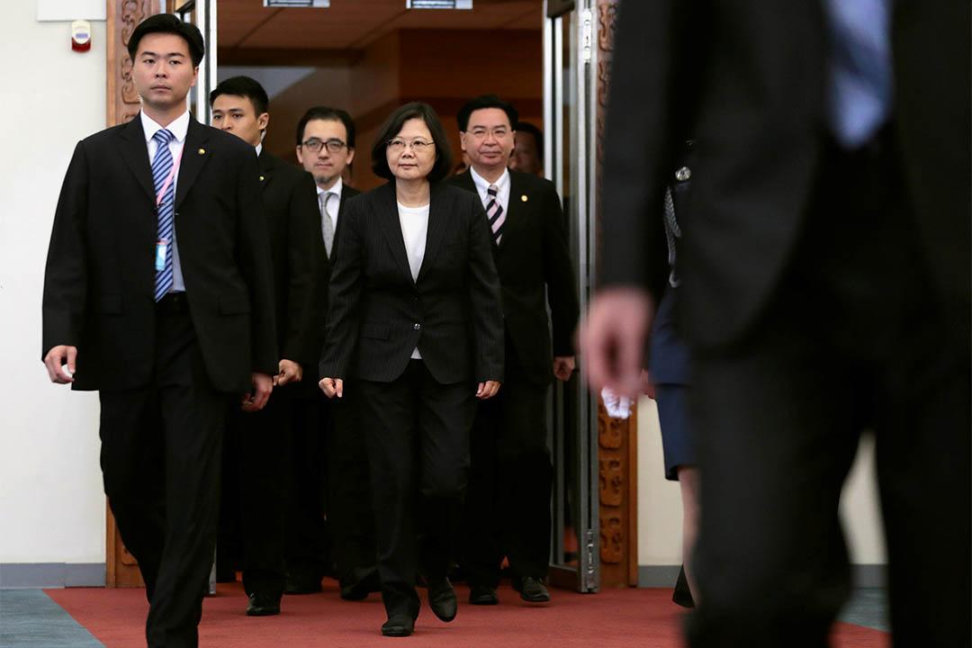 2017年1月7日,台灣總統蔡英文在桃園機場準備出訪中美四個邦交國。