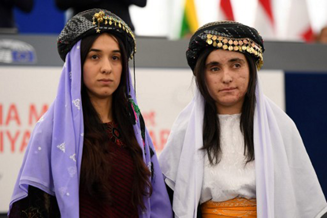 Nadia Murad 和Lamia Haji Bashar 獲歐洲議會頒發2016年Sakharov人權獎。