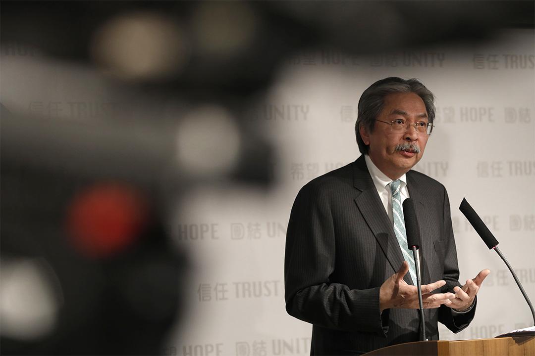 網民多對曾俊華的參選特首宣言感到受落。