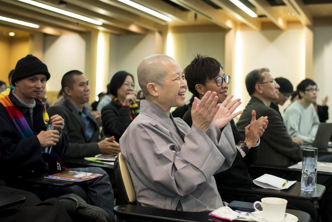 釋昭慧法師參加香港首個同性婚姻平權論壇。
