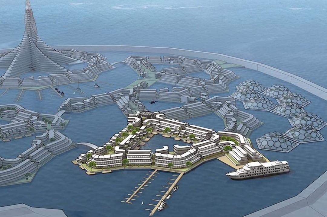 「海上家園研究所」(The Seasteading Institute)計劃在法國波利尼西亞(French Polynesia)群島建全球首個漂浮城市。