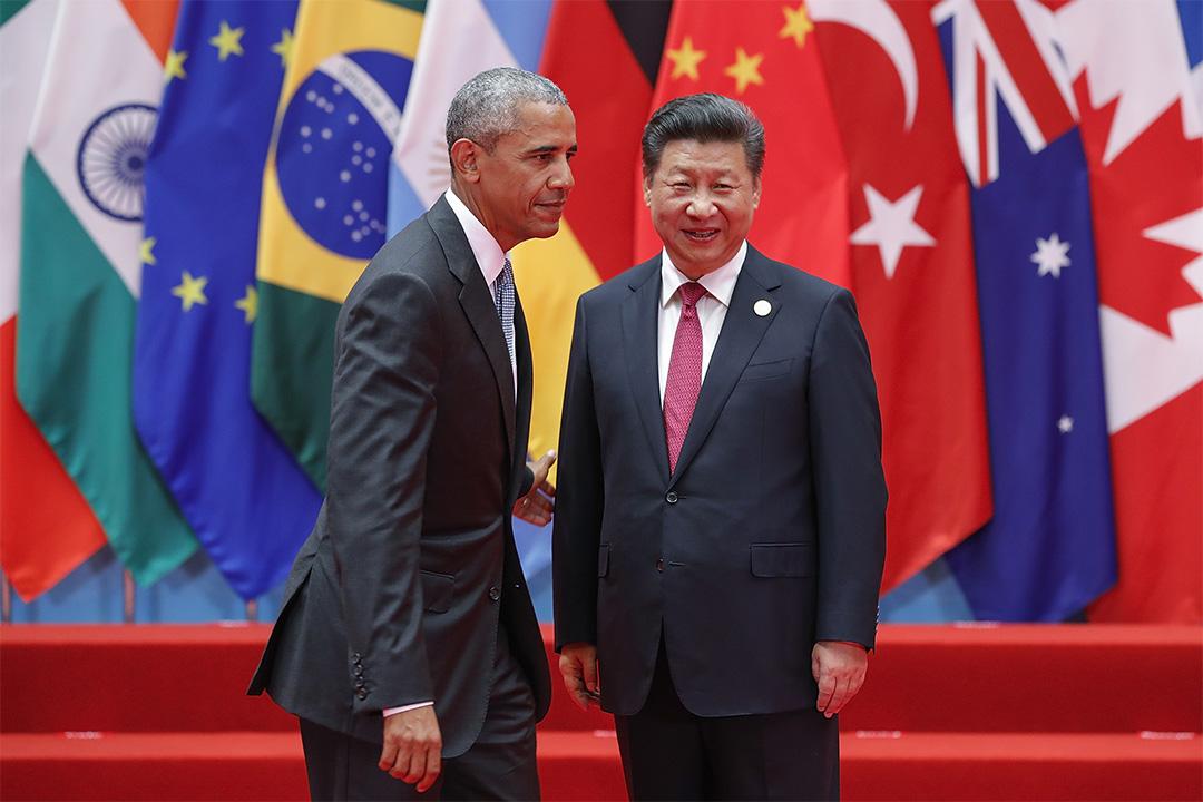 美國總統奧巴馬與中國國家主席習近平。