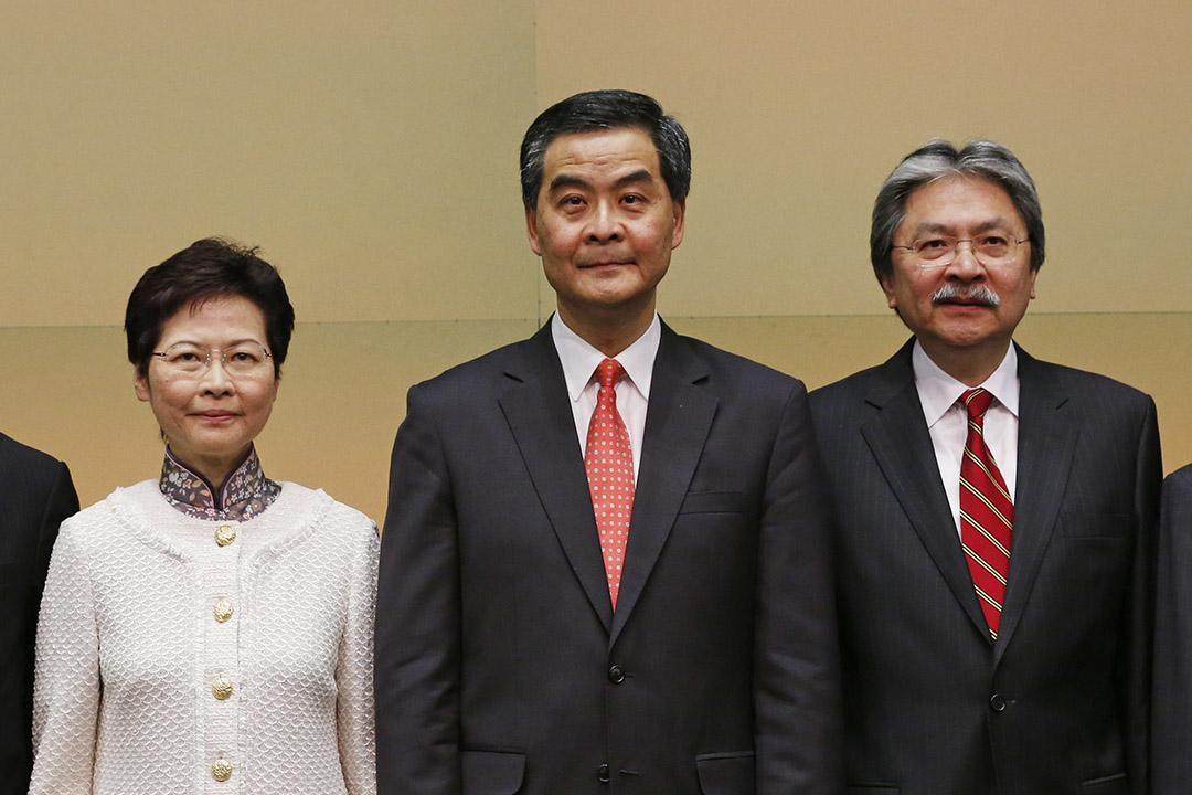 傳中央政府今天批准林鄭、曾俊華請辭。