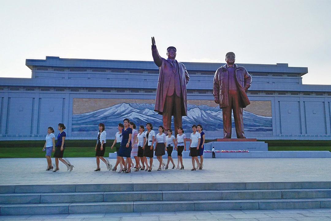 金周日認為只有手持權力、受過良好教育的人才有機會安全地離開北韓。圖為北韓平壤。