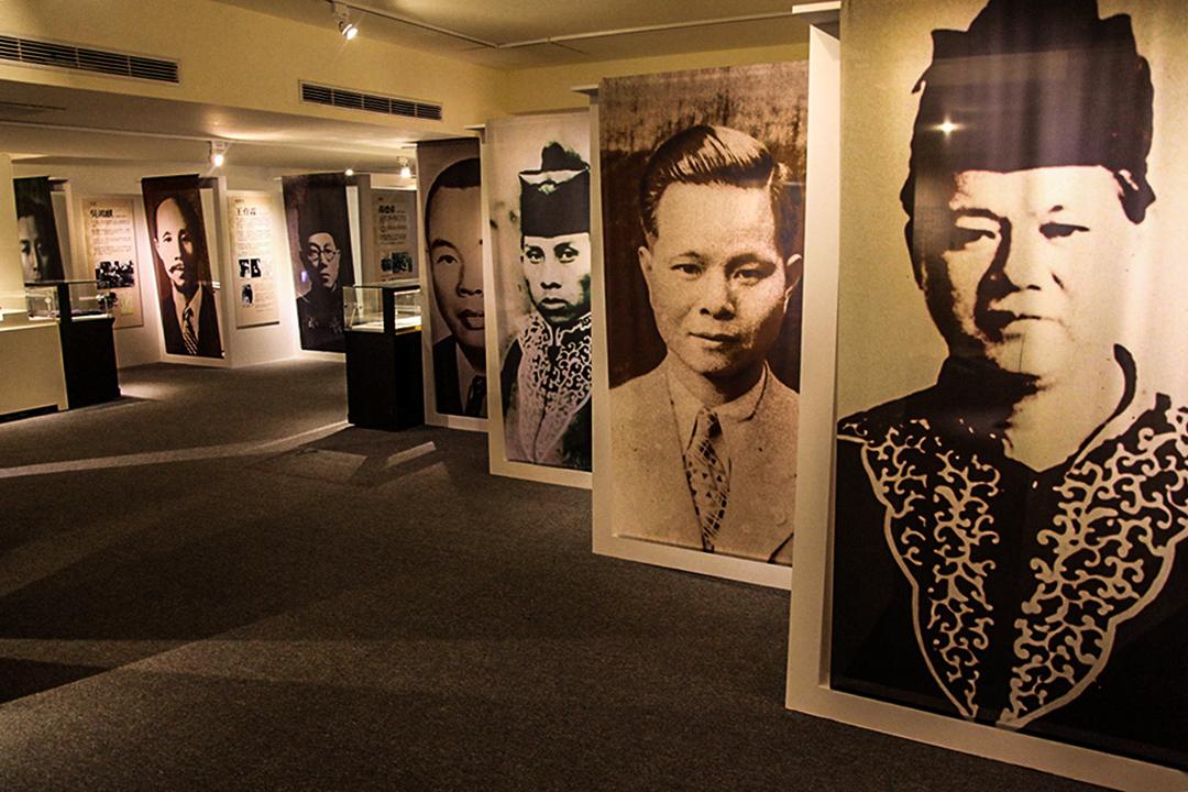 「公與義的堅持」展場內,展出了於二二八罹難的法律界人士,右起李瑞漢、李瑞峯、陳金能。