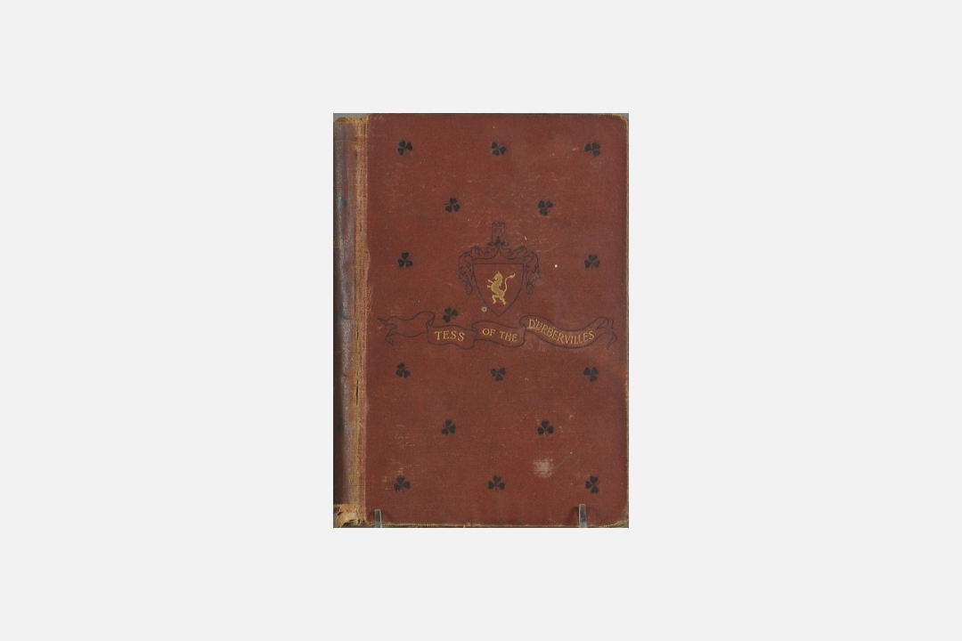湯瑪士.哈代(Thomas Hardy)名著《黛絲姑娘》(Tess of the d'Urbervilles)1892年版本的書封。