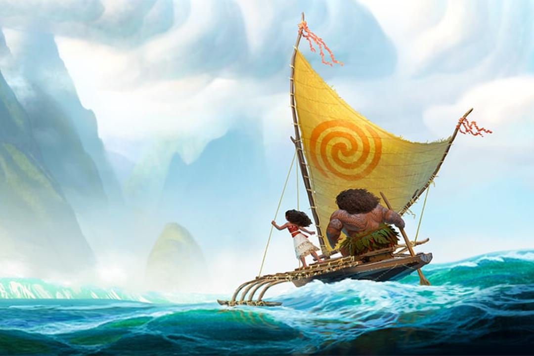 電影中由主角莫娜駕着出海冒險的獨木舟。