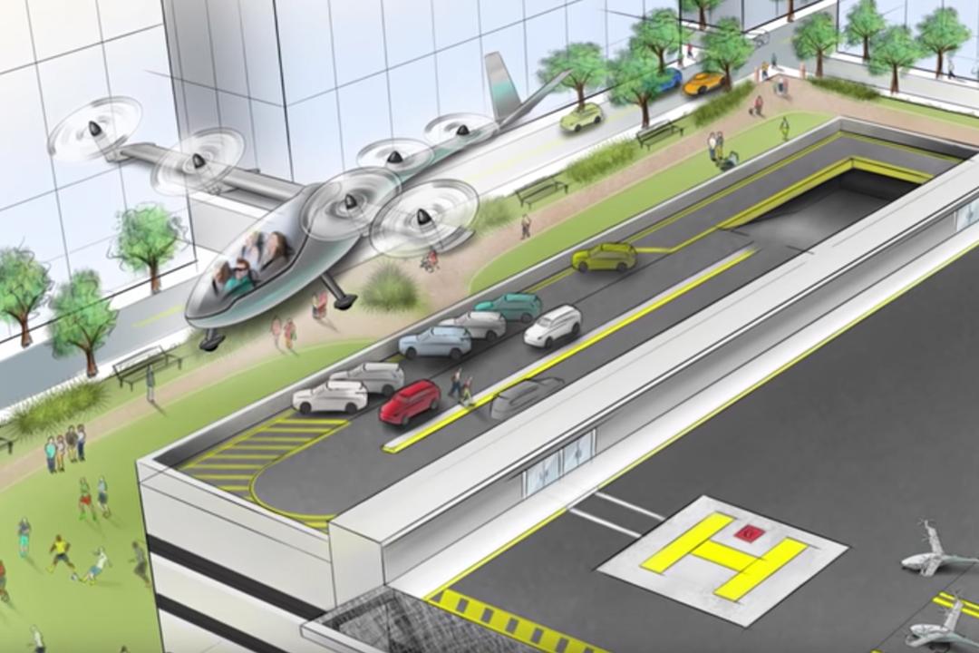 Uber請NASA工程師研發飛車。圖為飛車概念圖。