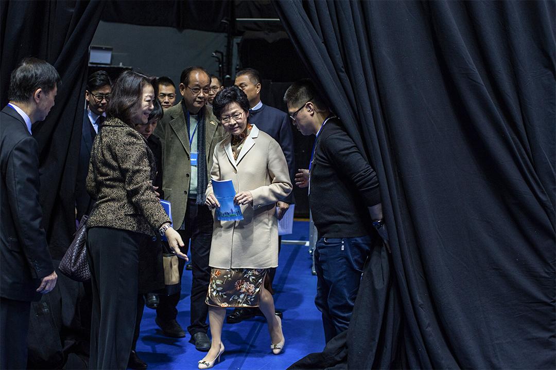 行政長官選舉參選人林鄭月娥今日下午於麥花臣場館公佈完整政綱。