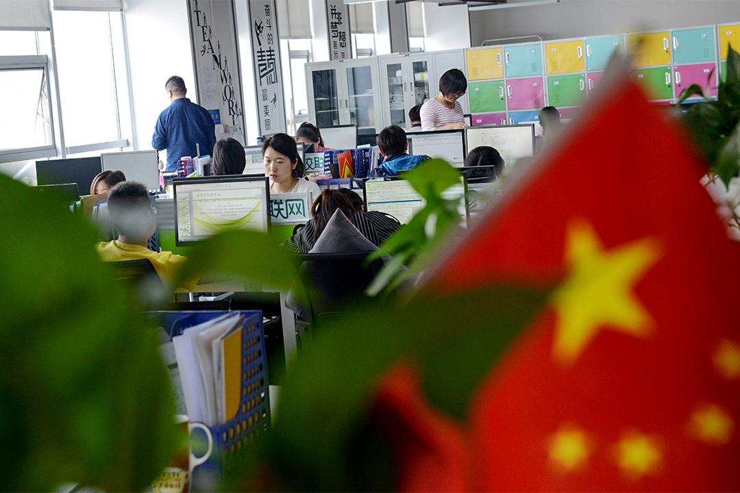 河南鄭州的創業孵化器內的創業苗圃。
