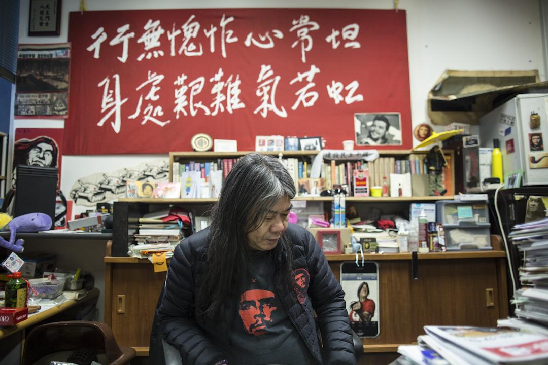 2017年2月10日,宣佈參選特首的社民連立法會議員梁國雄接受端傳媒訪問。