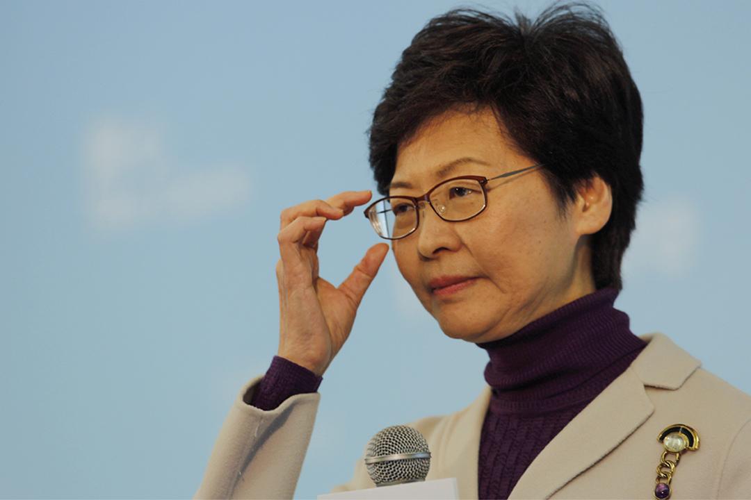 林鄭月娥今日下午舉行「與你同行:政綱第二步」記者會,公佈部分政綱。