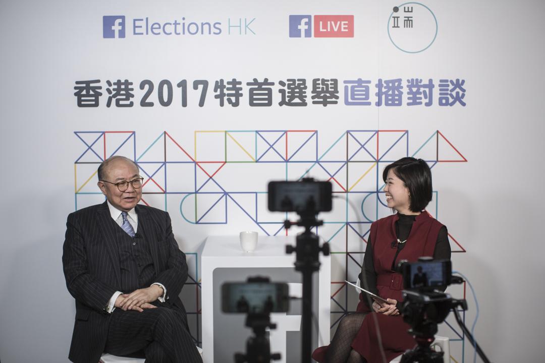 自2月9日起,端傳媒與Facebook合作,推出特首選舉直播對談系列,胡國興率先參與直播。