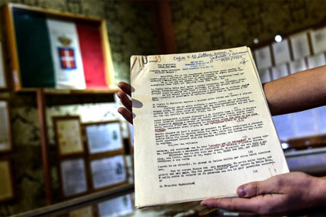 意大利偵探Giuseppe Dosi的調查文件。