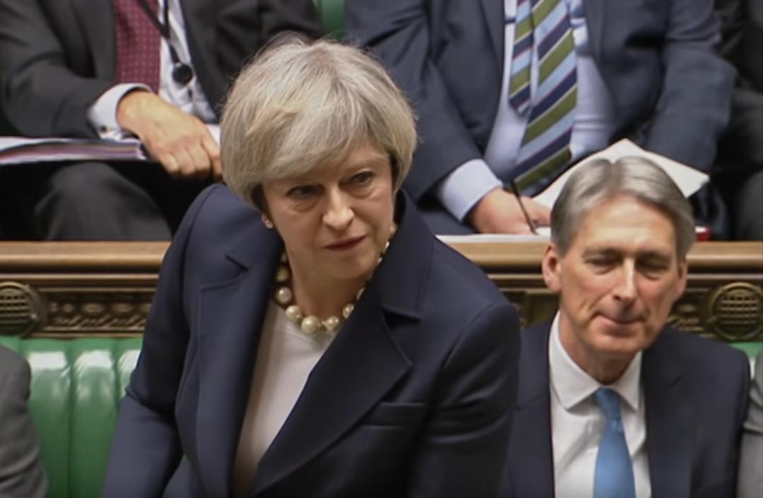 英國首相文翠珊提出了「歐洲聯盟法案」,請求議會通過。