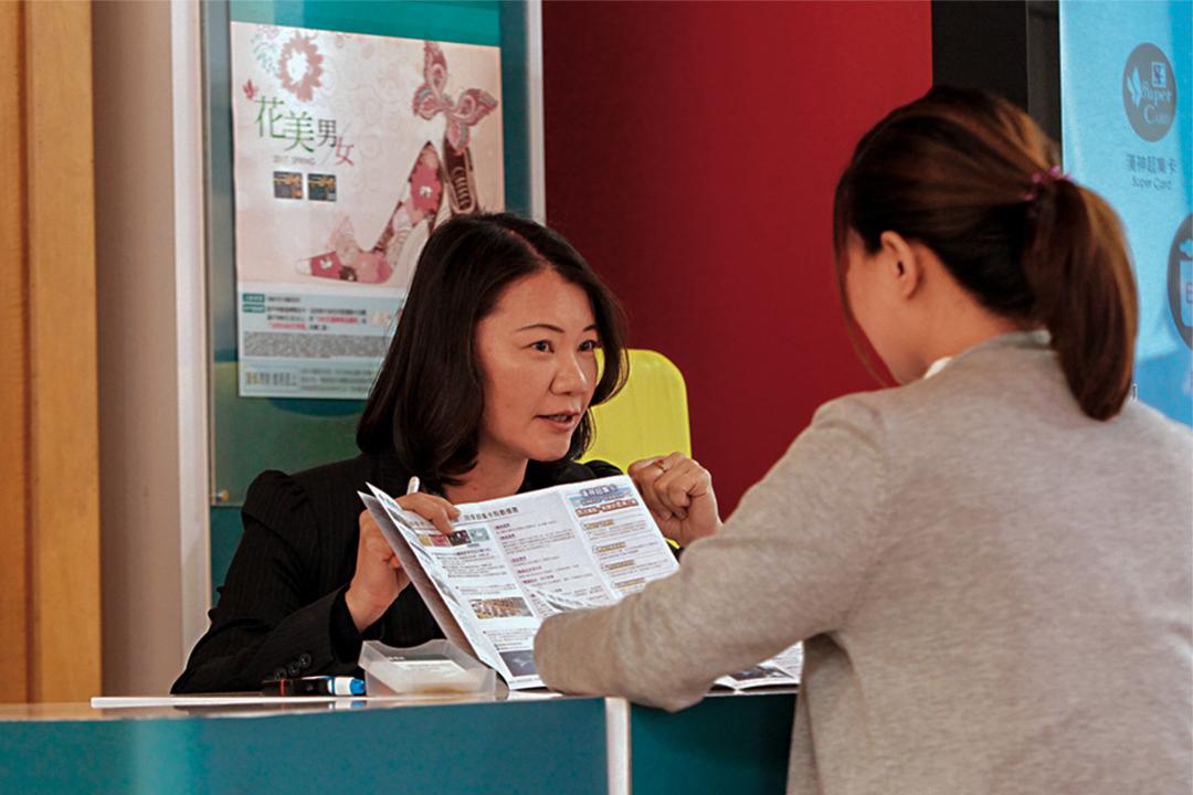 郭麗華推銷信用卡極有層次,她相信「客戶永遠都有未被滿足的點」。
