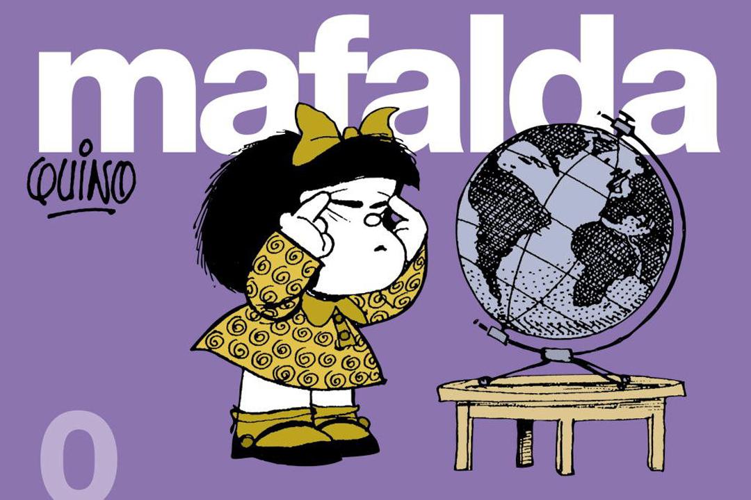 阿根廷漫畫家季諾(Quino)作品《Mafalda》封面。