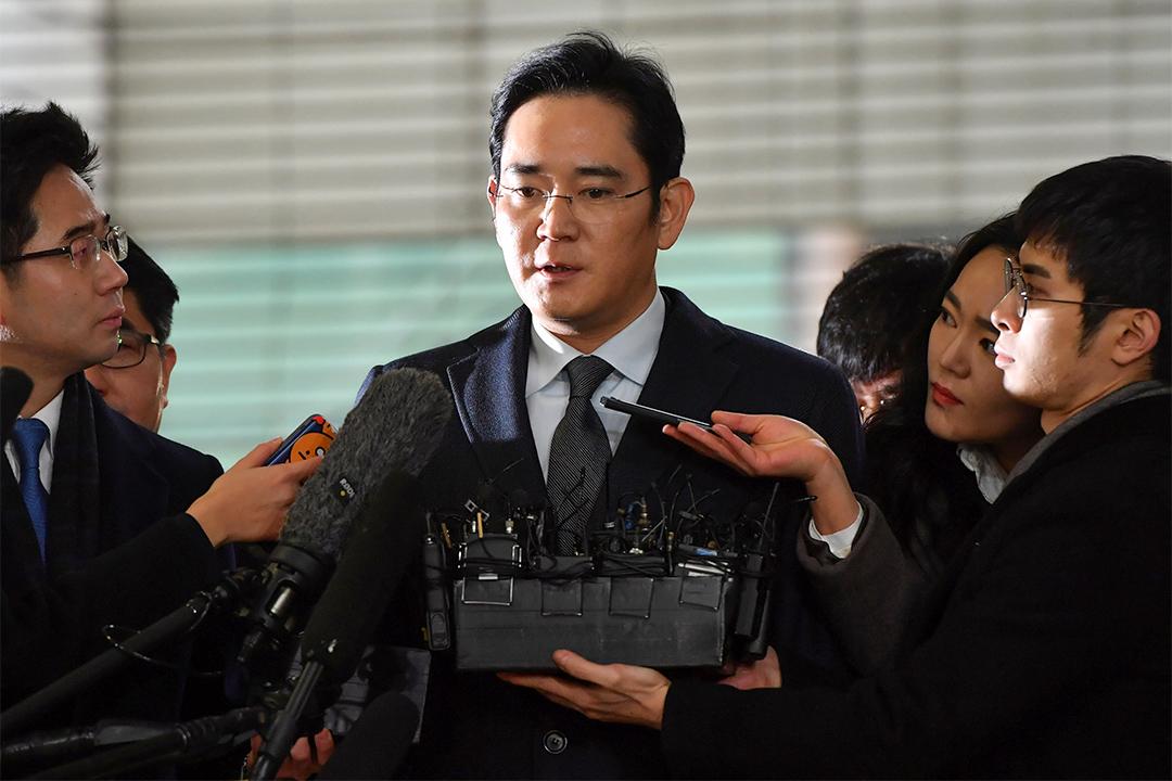 2017年2月13日,李在鎔回應記者有關涉嫌行賄總統朴槿惠等的提問。