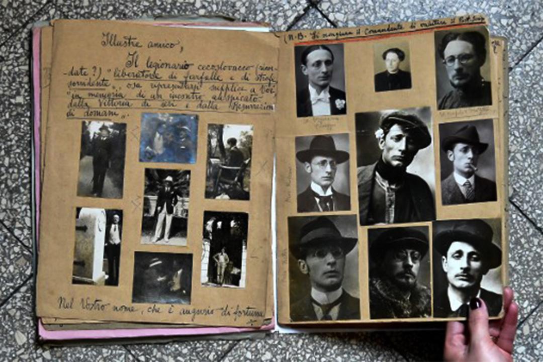意大利偵探Giuseppe Dosi的文件。
