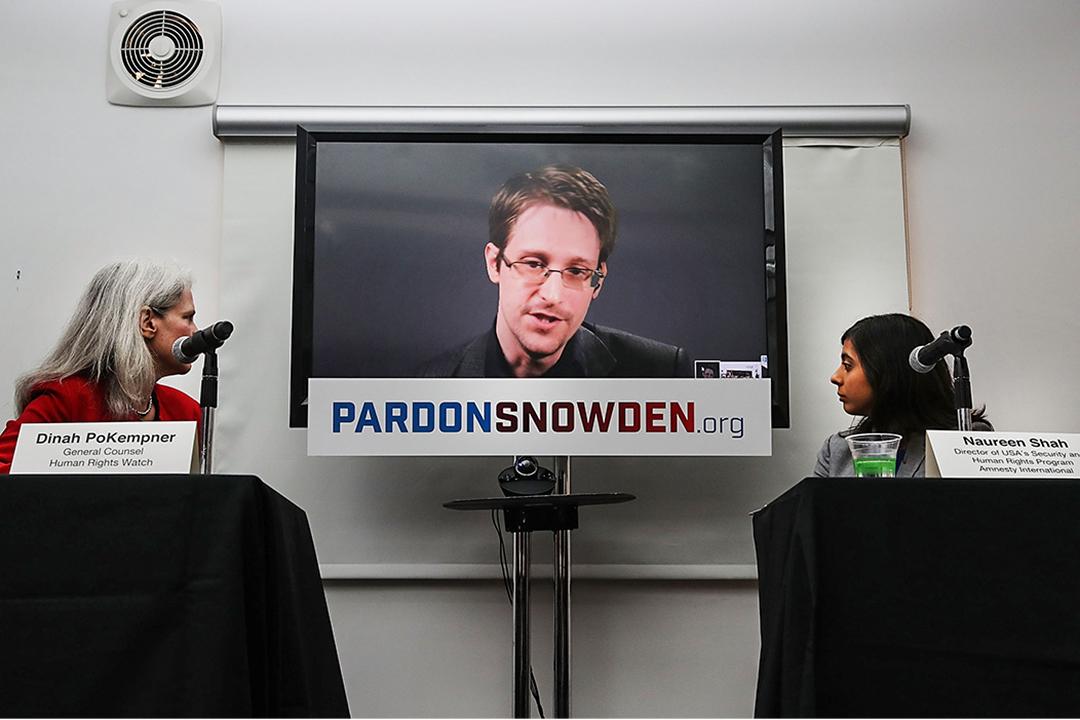 斯諾登將會展開培訓記者反國家監控的新工作。圖為2016年9月,斯諾登於紐約記者會。