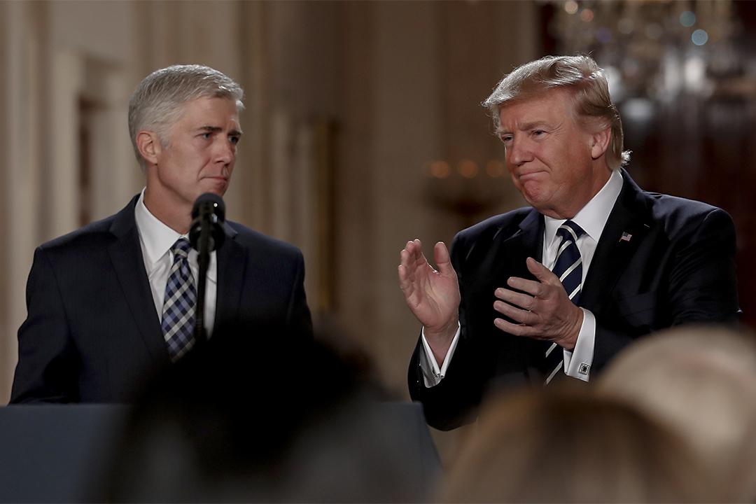 特朗普提名尼爾·戈薩奇任美國最高法院大法官。