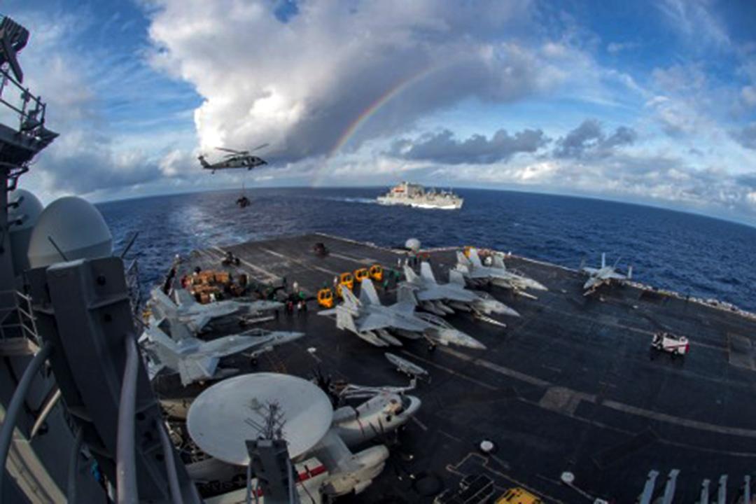 美軍航空母艦卡爾文森號已經開始於南海地區巡航。
