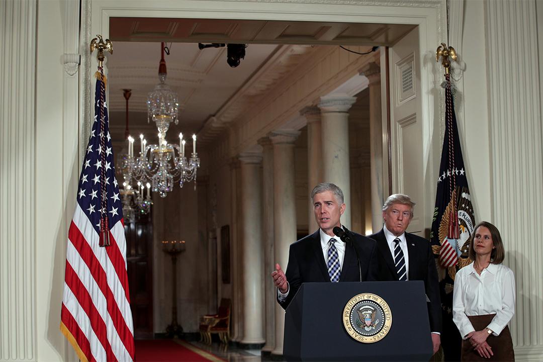 特朗普日前宣布提名尼爾·戈薩奇(Judge Neil Gorsuch)出任聯邦最高法院大法官。
