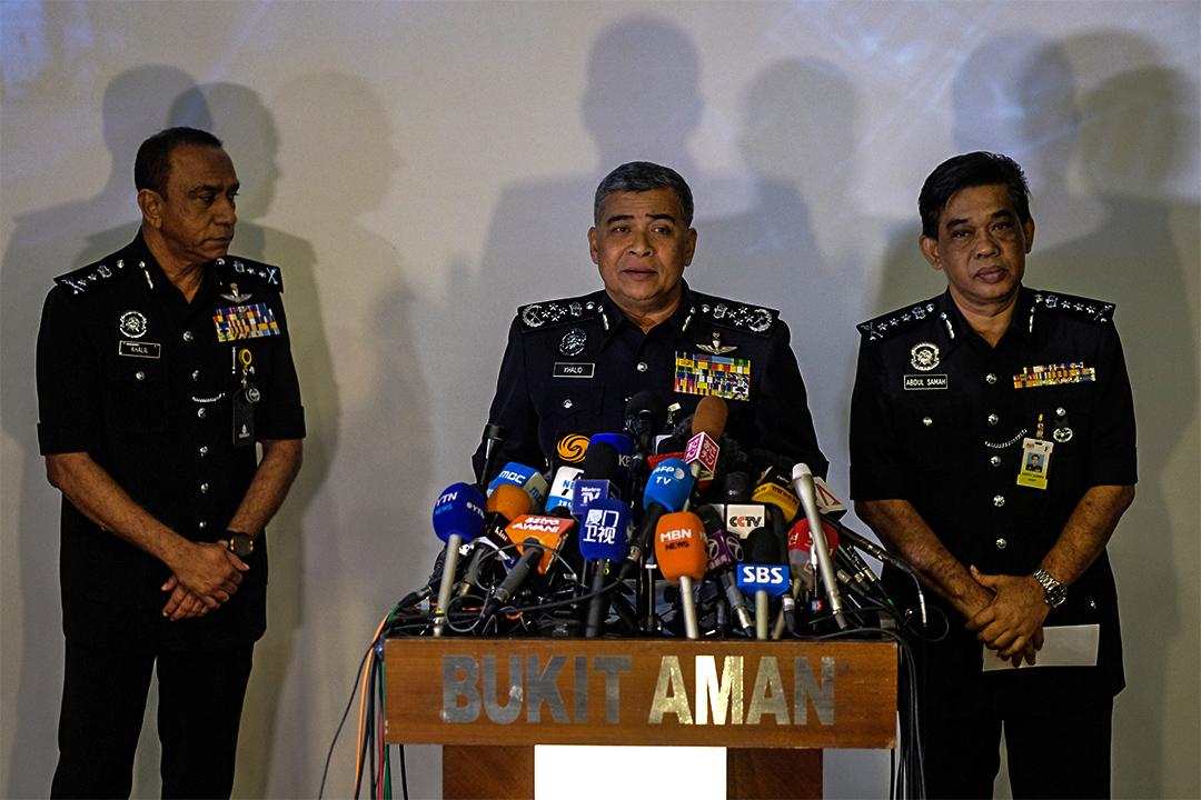 馬來西亞警方召開記者會公布金正男被殺案件的調查進展。