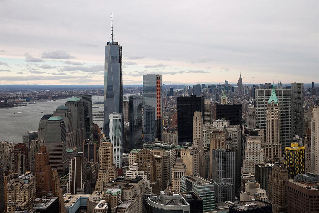 美國紐約的高樓大廈。