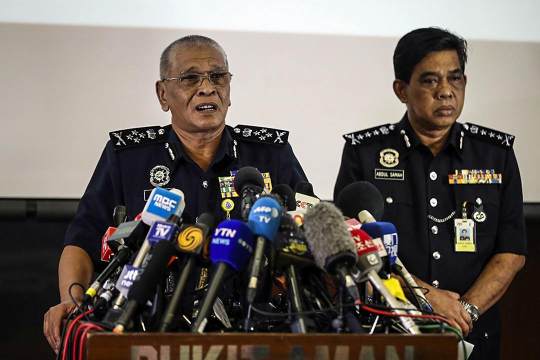 馬來西亞警方會赴澳門取金韓松(金正男兒子)的DNA作比對。圖為2017年2月19日,馬來西亞警察副檢察長在警察總部召開新聞發布會。