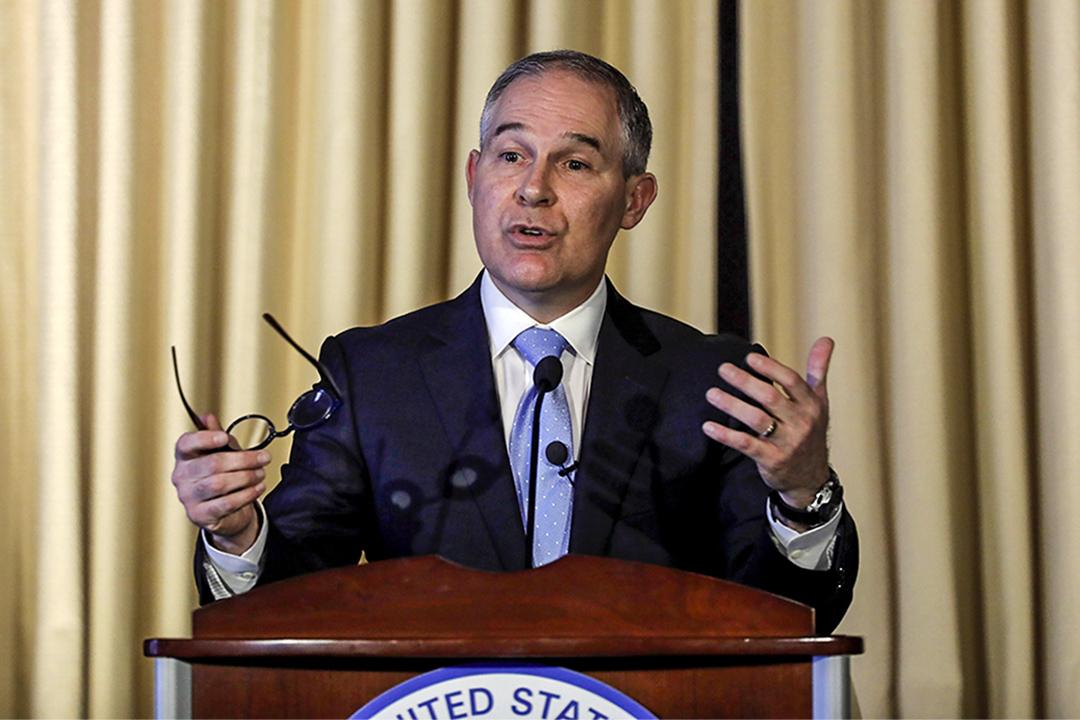 美國環保局長普魯特 (Scott Pruitt) 指二氧化碳非全球變暖主因。