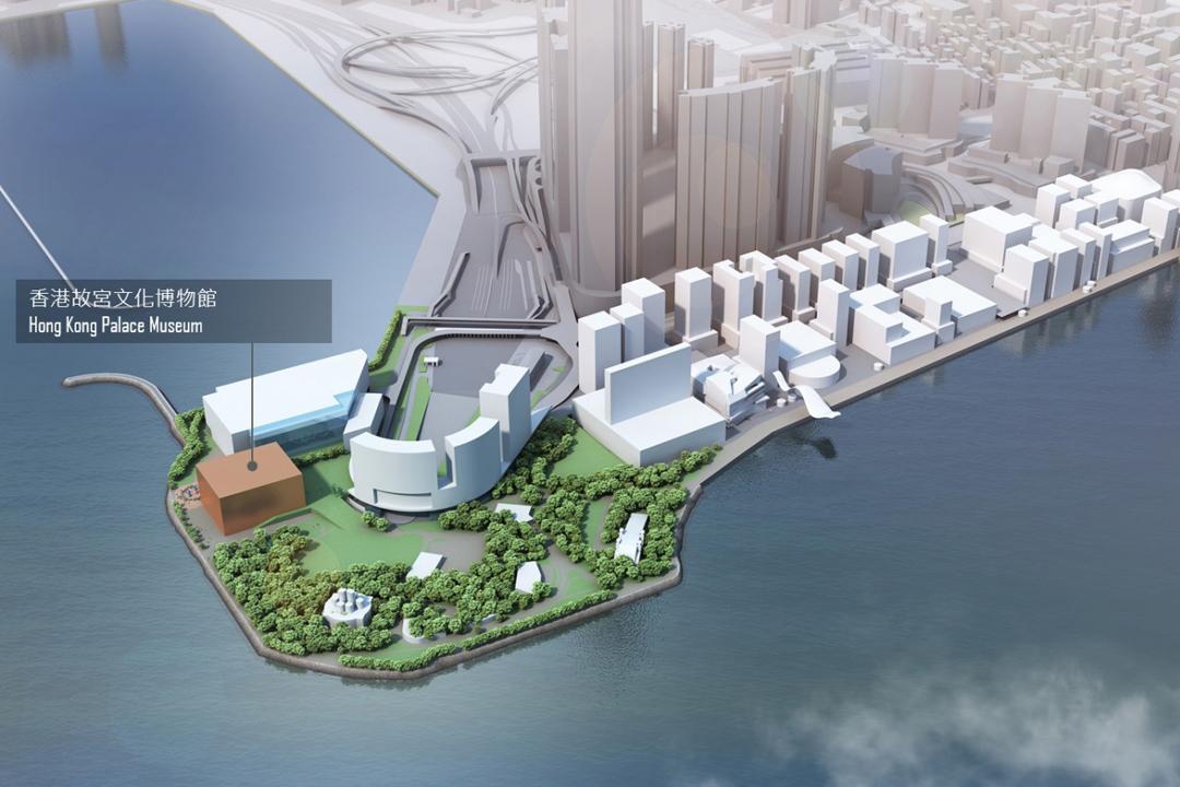 香港故宮文化博物館計劃興建位置圖。