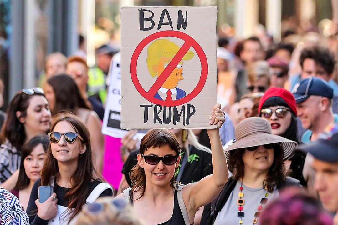 過去一直有不少反對特朗普移民禁令的遊行。