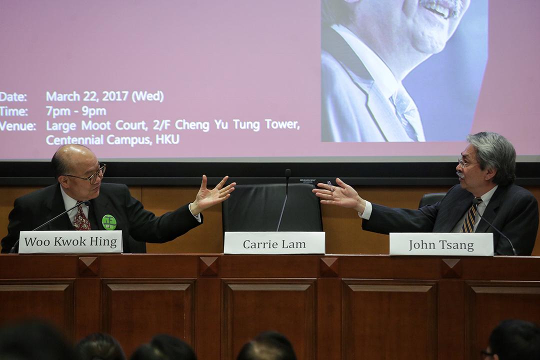 特首候選人林鄭月娥缺席由法律界舉辦的選舉論壇。
