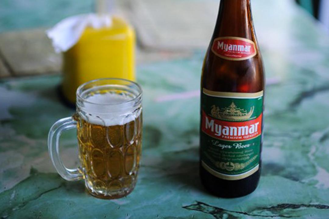 當地Myanmar啤酒。