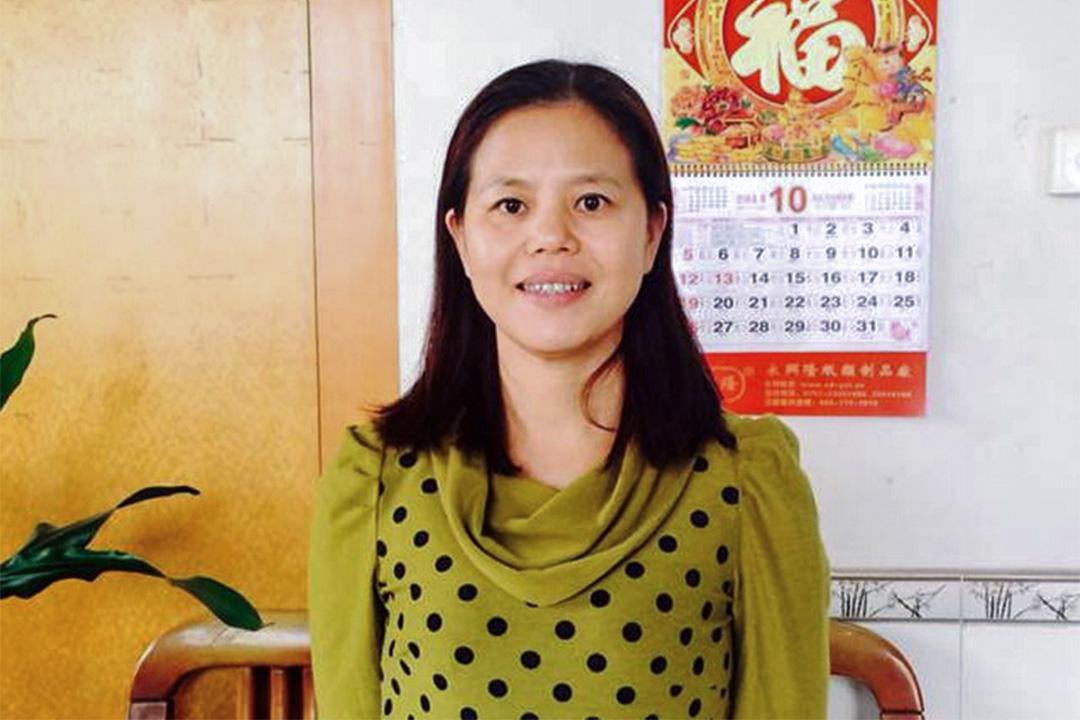 維權者蘇昌蘭。