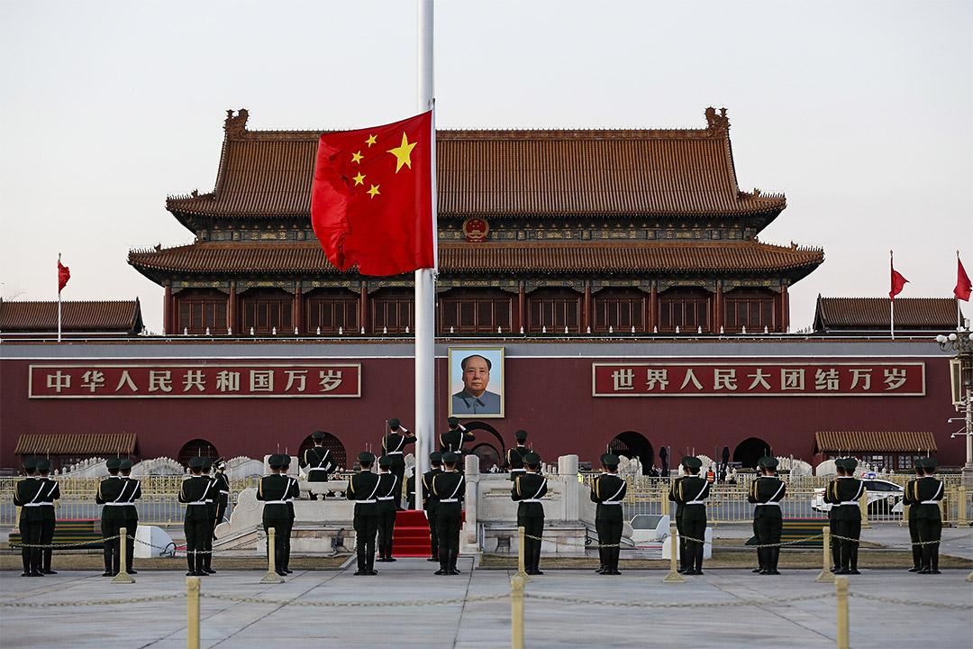 中國北京天安門。